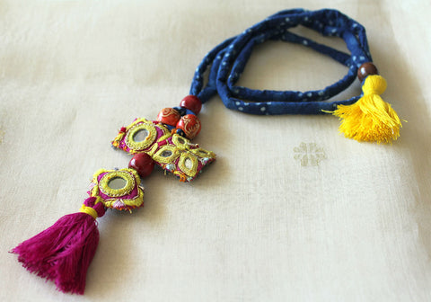 Upcycled Vintage Kutch Work Necklace Design 127