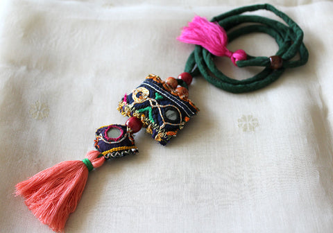 Upcycled Vintage Kutch Work Necklace Design 130