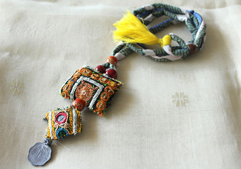 Upcycled Vintage Kutch Work Necklace Design 131