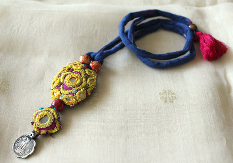 Upcycled Vintage Kutch Work Necklace Design 132