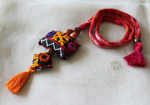 Upcycled Vintage Kutch Work Necklace Design 143