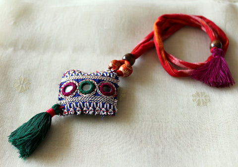 Upcycled Vintage Kutch Work Necklace Design 146