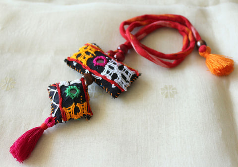 Upcycled Vintage Kutch Work Necklace Design 149