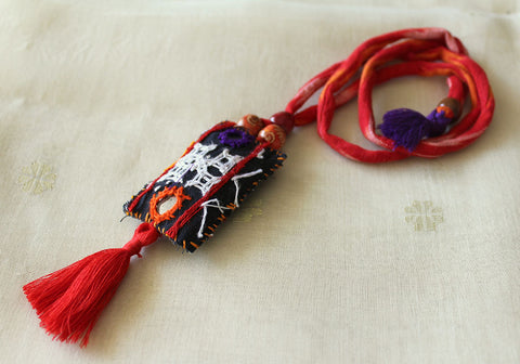 Upcycled Vintage Kutch Work Necklace Design 153