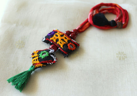 Upcycled Vintage Kutch Work Necklace Design 154