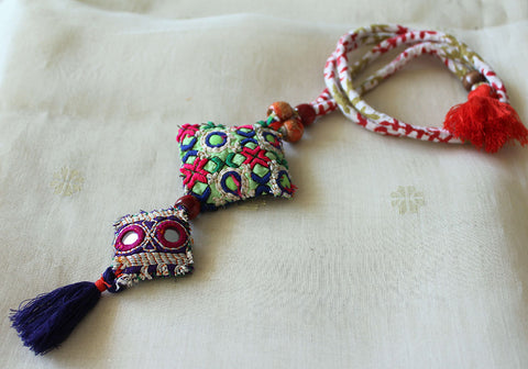Upcycled Vintage Kutch Work Necklace Design 160