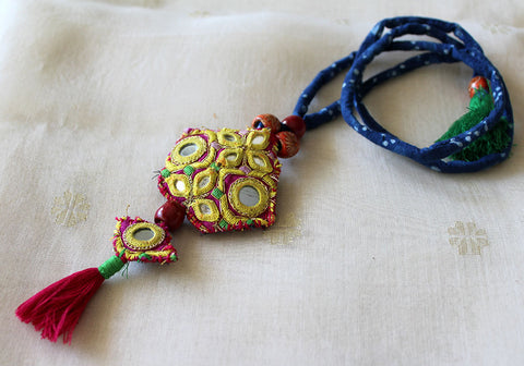Upcycled Vintage Kutch Work Necklace Design 162