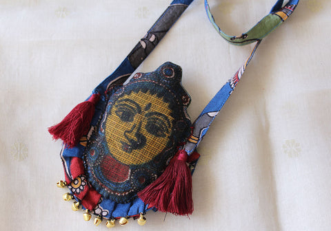 Kalamkari Fabric Necklace Design 5
