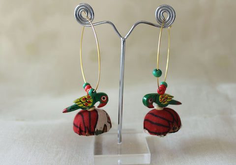 Upcycled Lightweight Cloth Jhumkas Design 34