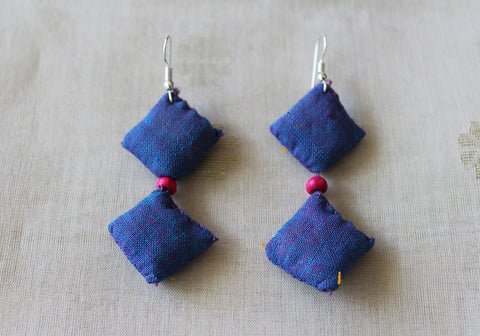 Upcycled Cloth Earrings Design 27