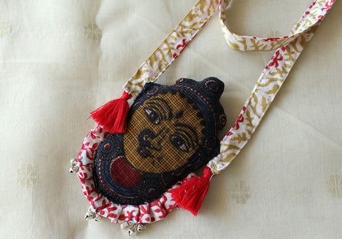 Kalamkari Fabric Necklace Design 9