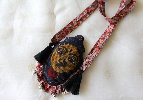 Kalamkari Fabric Necklace Design 10