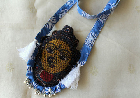 Kalamkari Fabric Necklace Design 11