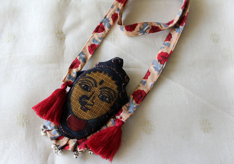 Kalamkari Fabric Necklace Design 14