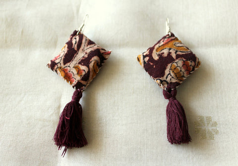 Upcycled Cloth Earrings Design 38