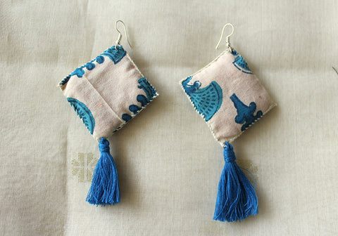 Upcycled Cloth Earrings Design 41