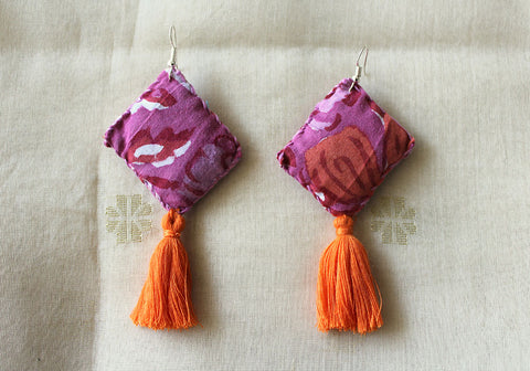Upcycled Cloth Earrings Design 42