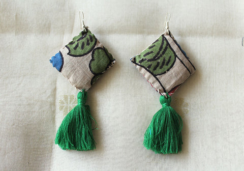 Upcycled Cloth Earrings Design 44