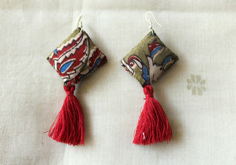Upcycled Cloth Earrings Design 51