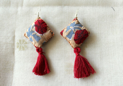 Upcycled Cloth Earrings Design 54