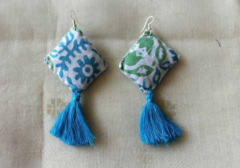 Upcycled Cloth Earrings Design 57