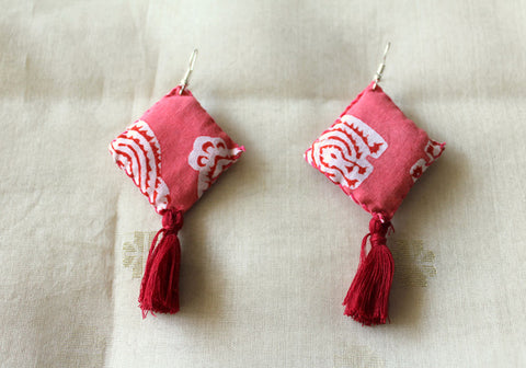 Upcycled Cloth Earrings Design 58