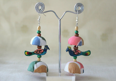Upcycled Lightweight Cloth Jhumkas Design 53