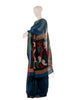 Blue Eri Silk Handloom Saree with Jamdani work
