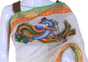 Kerala Saree with Handpainted Mural Design 3