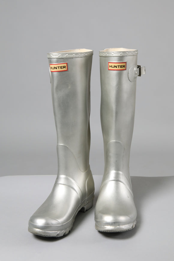 Silver Hunter Wellies