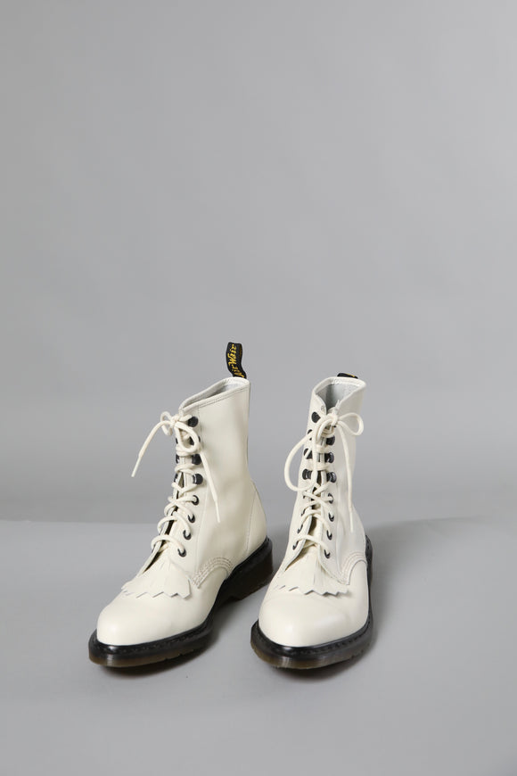 Dr. Marten White Leather Boots