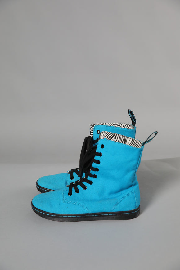 Bright Blue Dr. Marten boots