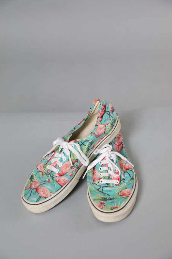 Flamingo Print Vans Skate Shoes