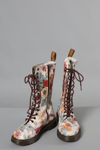 Dr Marten Floral Lace up Boots