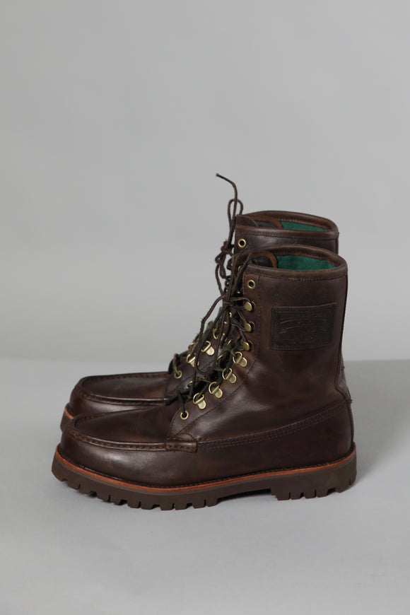 Ralph Lauren Leather Lace Up Boots