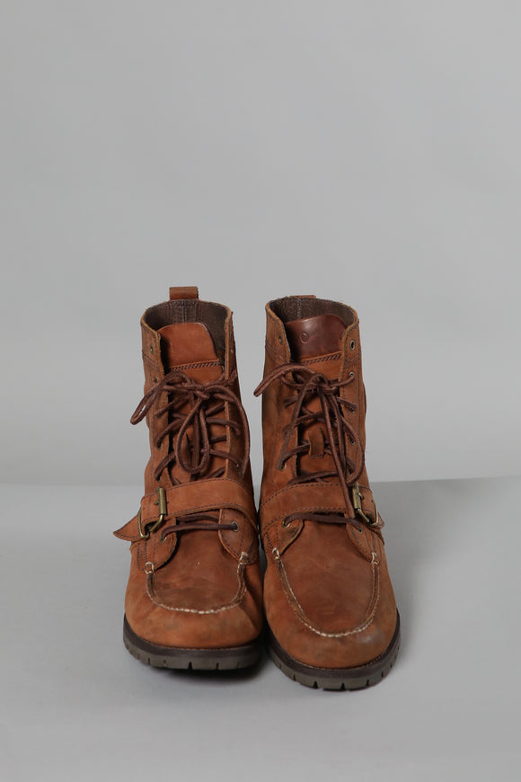Ralph Lauren Lace Up Ankle Boots