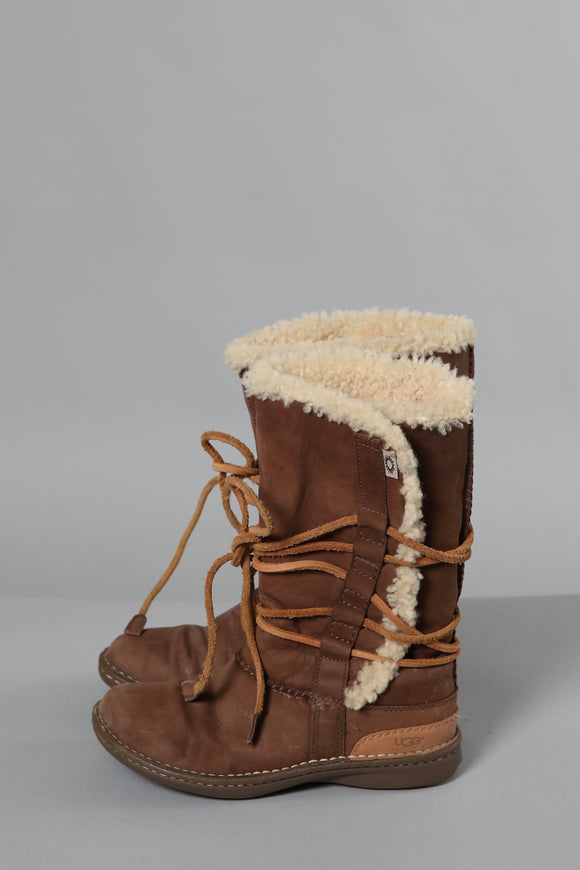 Ugg Long Sheepskin Boot Brown