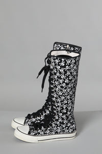 Unerground Skull and Crossbone Tall Boots