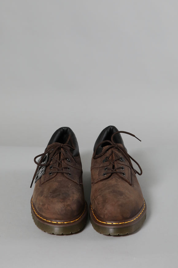Brown Dr. Martens industrial low ancle boot