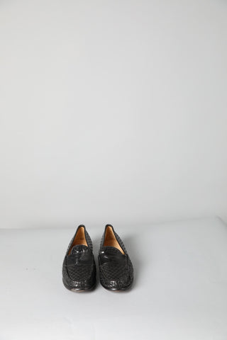 Cole Haan Woven Black Patent Loafer