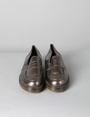 Metallic Patent Dr Marten Loafers