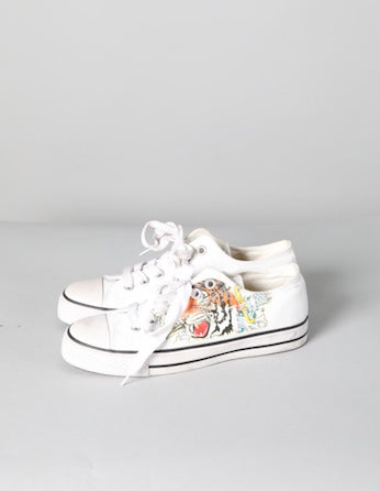 Converse with Tiger Motif