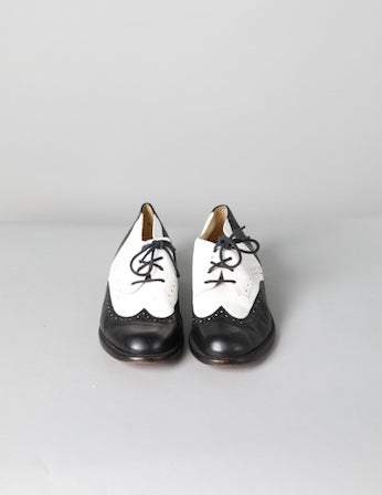 Vintage Black and White Brogues