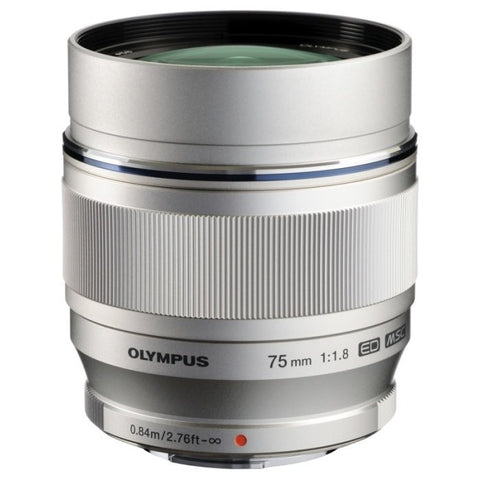 Olympus M.Zuiko Digital ED 75mm f/1.8 (Silver)