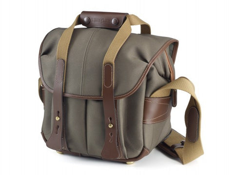 Billingham 107 Shoulder Bag (Sage With Chocolate Leather Trim)