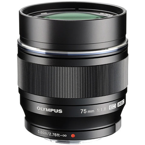 Olympus M.Zuiko Digital ED 75mm f/1.8 (Black)