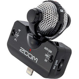 ZOOM iQ5 Stereo Microphone for iOS Devices with Lighting Connector