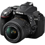 (SALE) Nikon D5300 (Black) + AF-P DX NIKKOR 18-55mm F3.5-5.6G ED VR (Free 16GB SD Card + Camera Bag) [Online Redeem Extended Warrranty]