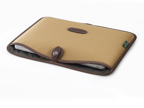 Billingham 13 inch Laptop Slip (Khaki Fibrenyte with Chocolate)