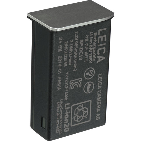 Leica BP-DC13 Rechargeable Lithium-Ion Battery for Leica T (Silver) 18772